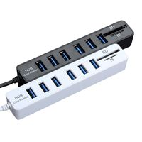 card reader High Speed USB 2.0 HUB Combo 6 Ports Expander Multi USB Splitter With SD/TF Card Reader for PC Computer Tablet Accessories (1)