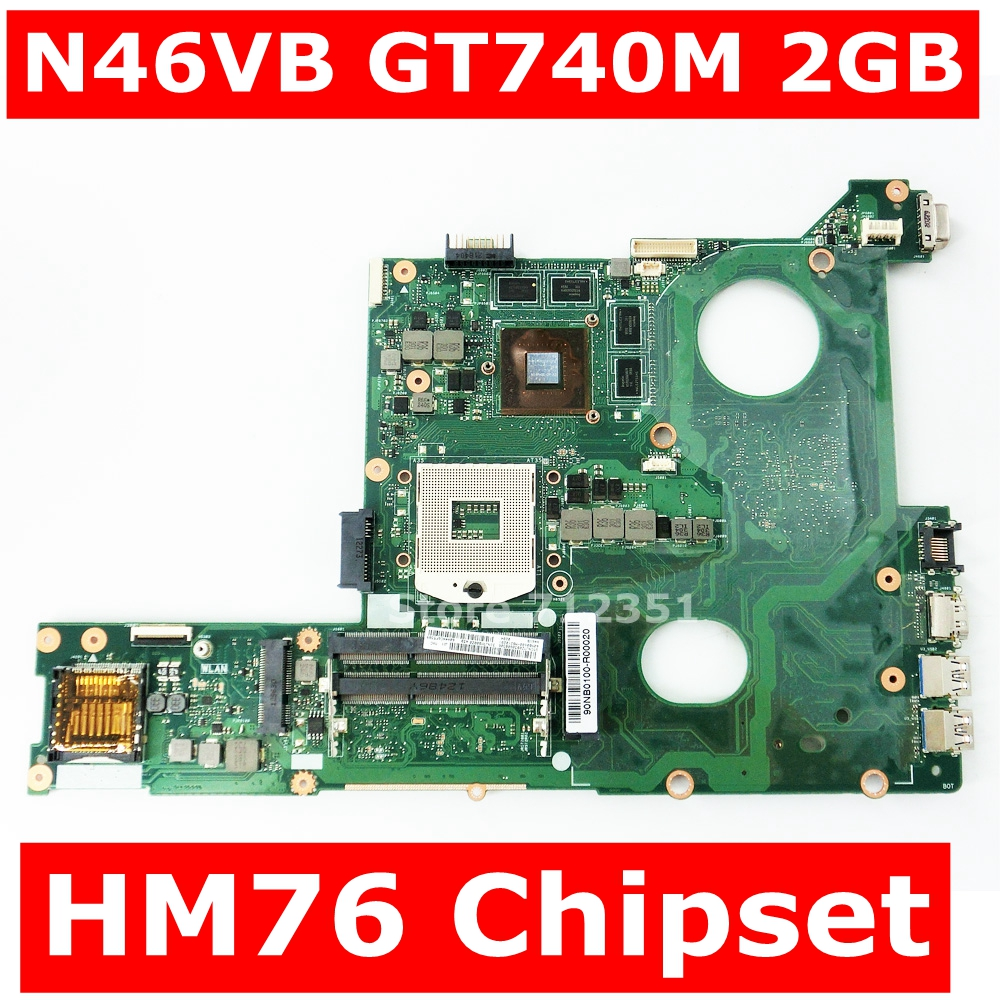 N46VB GT740M 2GB VRAM Mainboard REV 2.3 SLJ8E HM76 For ASUS N46VZ N46VJ N46VM N46VV N46VB Motherboard 100% TestedN46VB GT740M 2GB VRAM Mainboard REV 2.3 SLJ8E HM76 For ASUS N46VZ N46VJ N46VM N46VV N46VB Motherboard 100% Tested