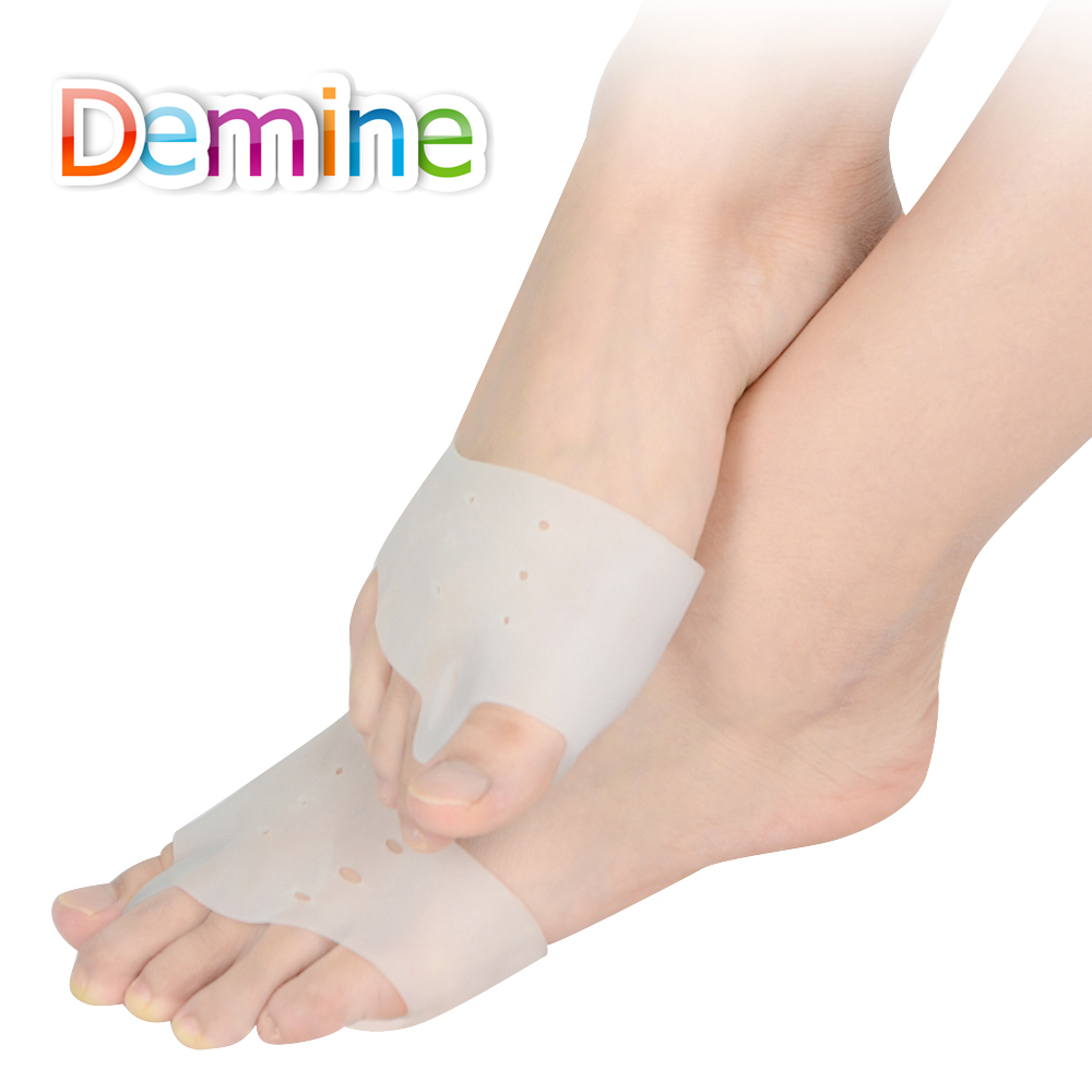 Demine Silicone Hallux Valgus Orthotics Insoles Toe Separator Insole Correction Cushion Forefoot Care Pad Shoe Cushion Insert