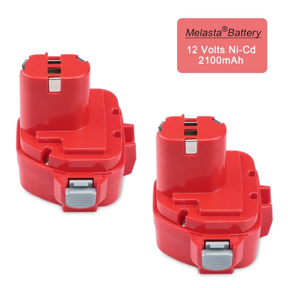 MELASTA 2pcs 12v Ni-Cd 2.1Ah Replacement Battery for Makita 1220 PA12 1222 1233S 1233SA 1233SB 1235 1235A 1235B 192598-2 1pc rechargeable battery for makita 12v pa12 2000mah ni cd replacement power tool battery formakita 1220 1222 1233s ves26 t40