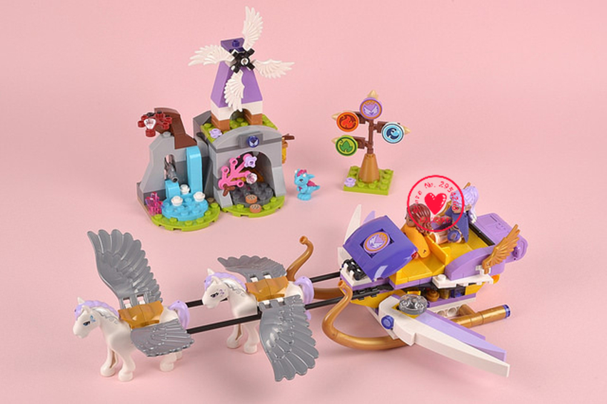 Elves Aira's Pegasus Sleigh lepin model Building block kit Brick Worriz Fairy girl Toy gift Compatible with lego kid gift set lepin 22001 pirate ship imperial warships model building block briks toys gift 1717pcs compatible legoed 10210