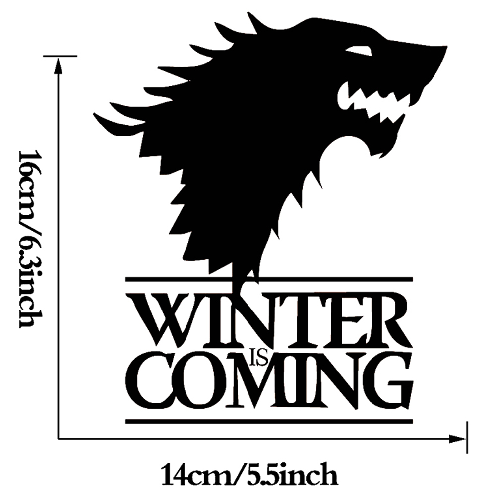 HotMeiNi 14cmx16cm Winter Is Coming Wolf Game of Thrones Decorative Head Of Wolf Car Stickers Waterproof Vinyl Window decal