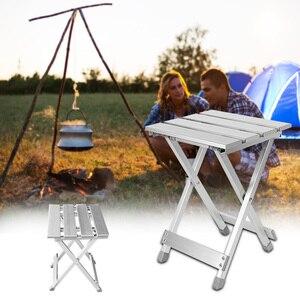 Image 2 - Wygodny składany stołek Camping wysoka intensywność odporna na zarysowania stopu aluminium oszczędność miejsca przenośne krzesło zewnątrz antypoślizgowe