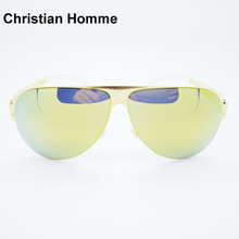 Hot Sale New 2017 Christian Homme Brand Sunglasses FRANZ Top Quality Men Sunglasses Case Fashion Women Beach Leisure Sunglasses