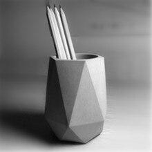 Handmade Concrete Flowerpot Molds for Cactus Planter Succulents Pot Making Cement Vase Silicone Mold