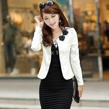 Double-breasted Applique Suit Plus size XXXL Short Coat Slim Woman Blazer Feminino Women business suits formal office suits work