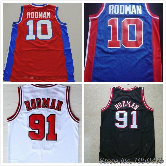 8f10622d9 discount code for wholesales dennis rodman 91 basketball jersey blue  whitecheap red black retro mens 10
