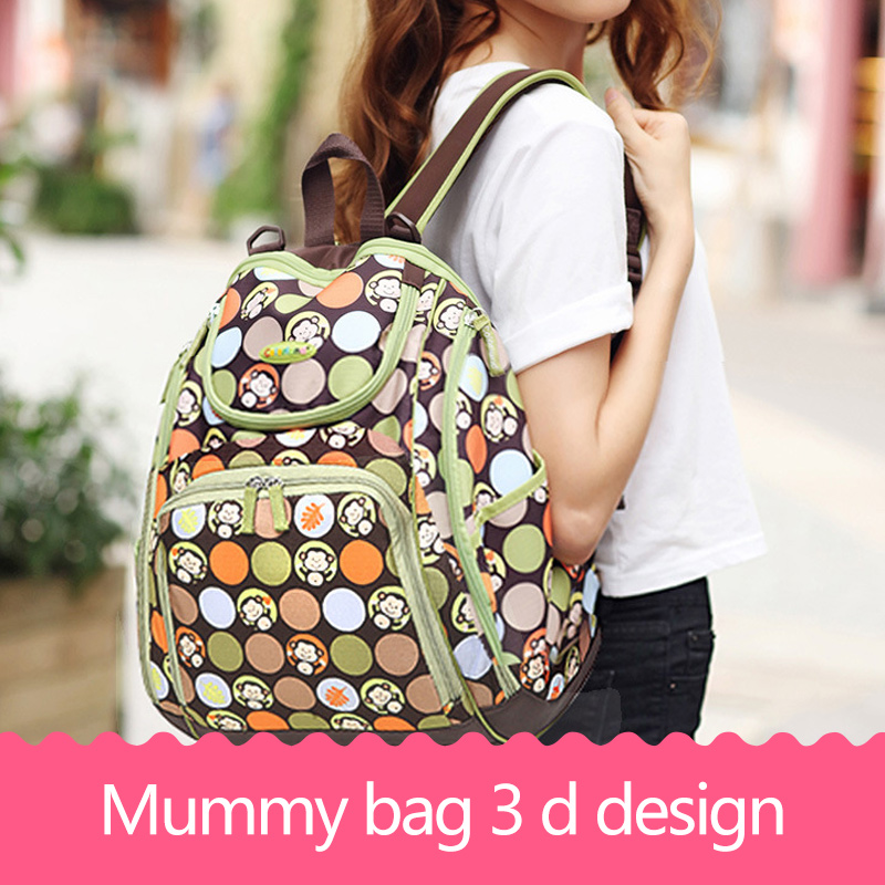 Baby Shoulder Diaper Bag Backpack Baby Care Nappy Changing Multifunctional Infant Bags Mother Mummy Bag Stroller Travel Handbag fashion cute panda baby mummy diaper nappy bags keep fresh lunch breast milk bag thermal portable travel picnic hobos baby care