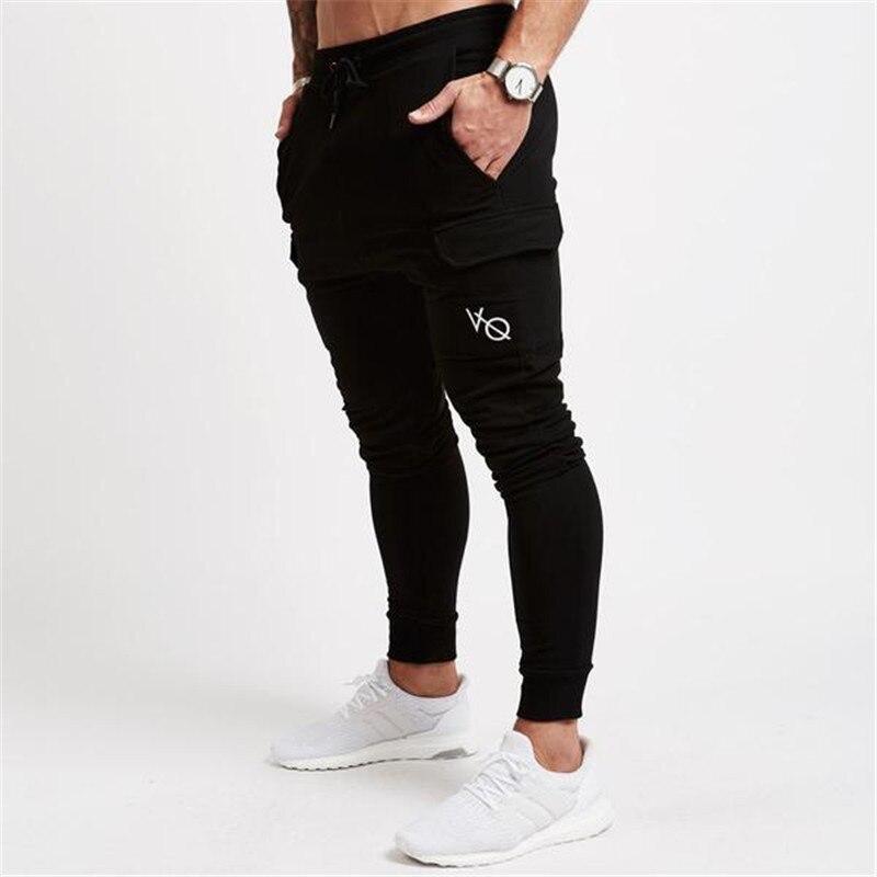 2018 Männer Stil Baumwolle Elastische Taille Jogginghose Herren Herbst Turnhallen Fitness Hose Jogger Workout Marke Sportswear Bleistift Hosen
