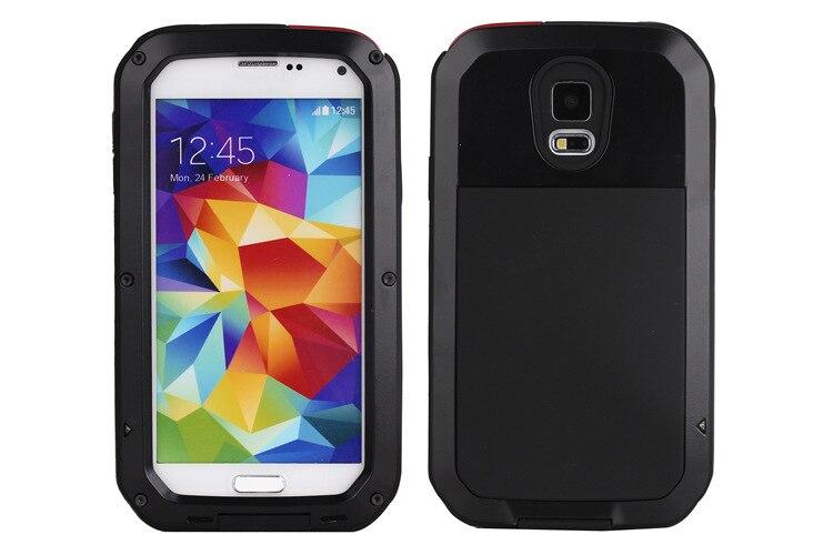 11de24bae88b Lujo tiempo suciedad prueba de choque caso de teléfono para Samsung Galaxy  S5 i9600 caso aleación de metal Gorilla Glass nuevo