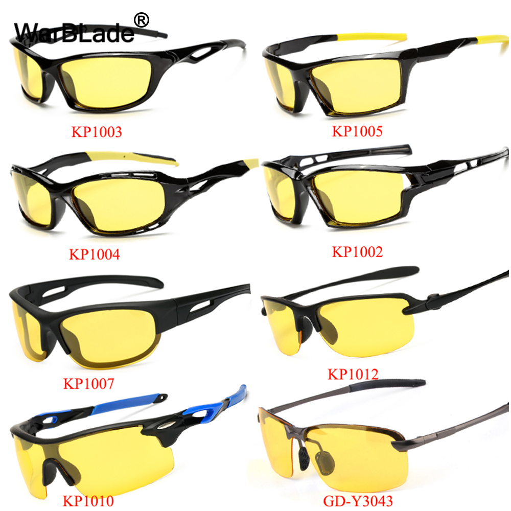 2018 New Yellow Lense Night Vision Driving Glasses Men Polarized Driving Sunglasses Polaroid Goggles Reduce Glare WarBLade