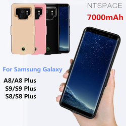 Para samsung galaxy s9 s8 a8 caso de bateria 7000 mah power bank carga capa para samsung s9 s8 mais ultra fino caso carregamento da bateria