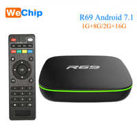 Wechip R69 Smart Android 7.1 TV Box 1GB 8GB Allwinner H3 Quad-Core 2.4G Wifi Set Top Box 2G 16G HD Media Player Ott Android Box