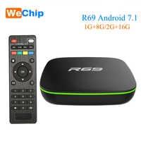 Wechip R69 Smart Android 7,1 caja de TV 1GB 8GB Allwinner H3 Quad-Core 2,4G Wifi Set Top Box 2G 16G HD reproductor de medios Ott caja de Android
