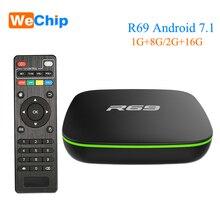 Wechip R69 Smart Android 7.1 TV Box 1GB 8GB Allwinner H3 Qua