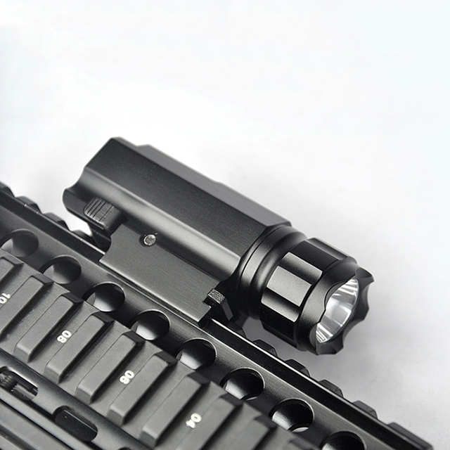 US $14 99 |Quick Release Tactical Led Flashlight Cree for Glock 17 19 20 21  22 23 with 20mm Weaver or Picatinny Rail Glock Accessories-in Weapon