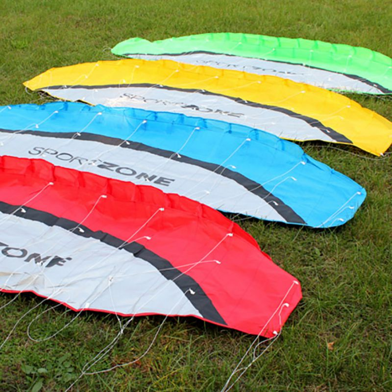 2017-Family-Playing-Power-Dual-Line-Stunt-Parachute-Rainbow-Sports-Beach-Kite-30m-Nylon-Flying-Lines-For-Beginner-4