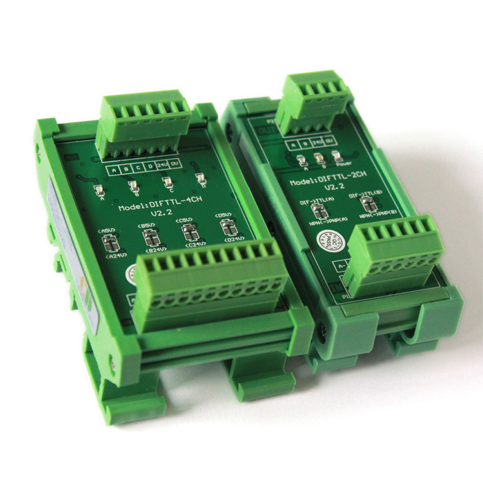Converter Differential 5V TTL to Collector 24V HTL Signal Support PLC 3 Ways 2M