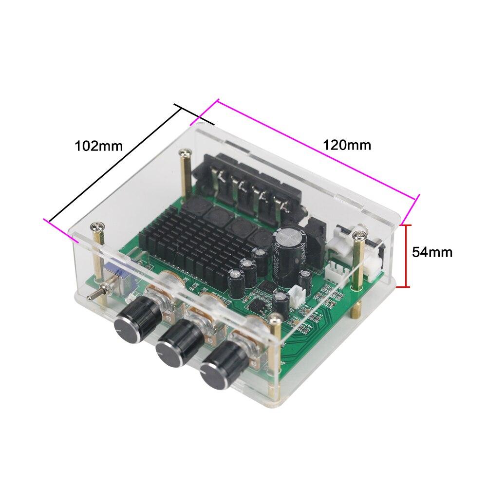 Image 4 - Стереоусилитель GHXAMP TPA3116D2 80 Вт * 2, аудиоплата TPA3116, цифровой усилитель звука, преусилитель тона, высокая мощность, DC12 24V, 1 шт.amplifier audioamplifier sounddigital amplifier -