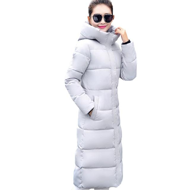 Fashion Winter Jacket Women 2017 Thick Warm Female Jacket Cotton Coat Parkas Long jaqueta feminina inverno Women Hooded Coat