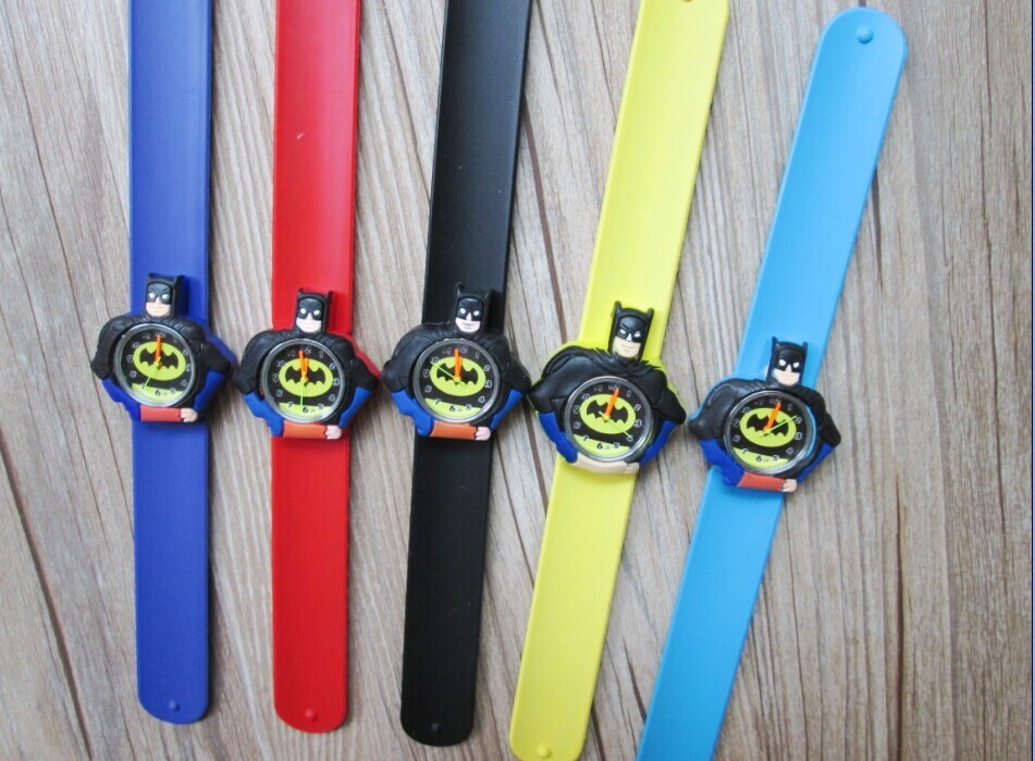 Kids Slap Watches Children Cartoon Slap Silicone Batman Watches For Kids 200pcs/lot