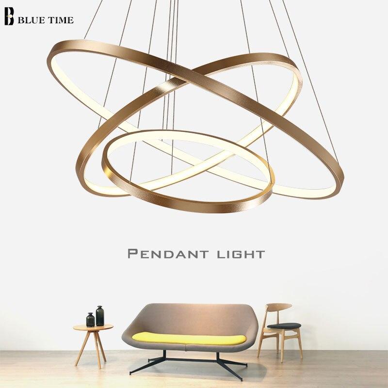 40CM 60CM 80CM New Modern Led Ceiling Lights Circle Ring Led Chandelier Ceiling Lamp For Living