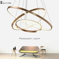 Circle Rings Led Ceiling Light For Home Modern Led Chandelier Ceiling Lamp For Dining room Living room Black White Gold Finished