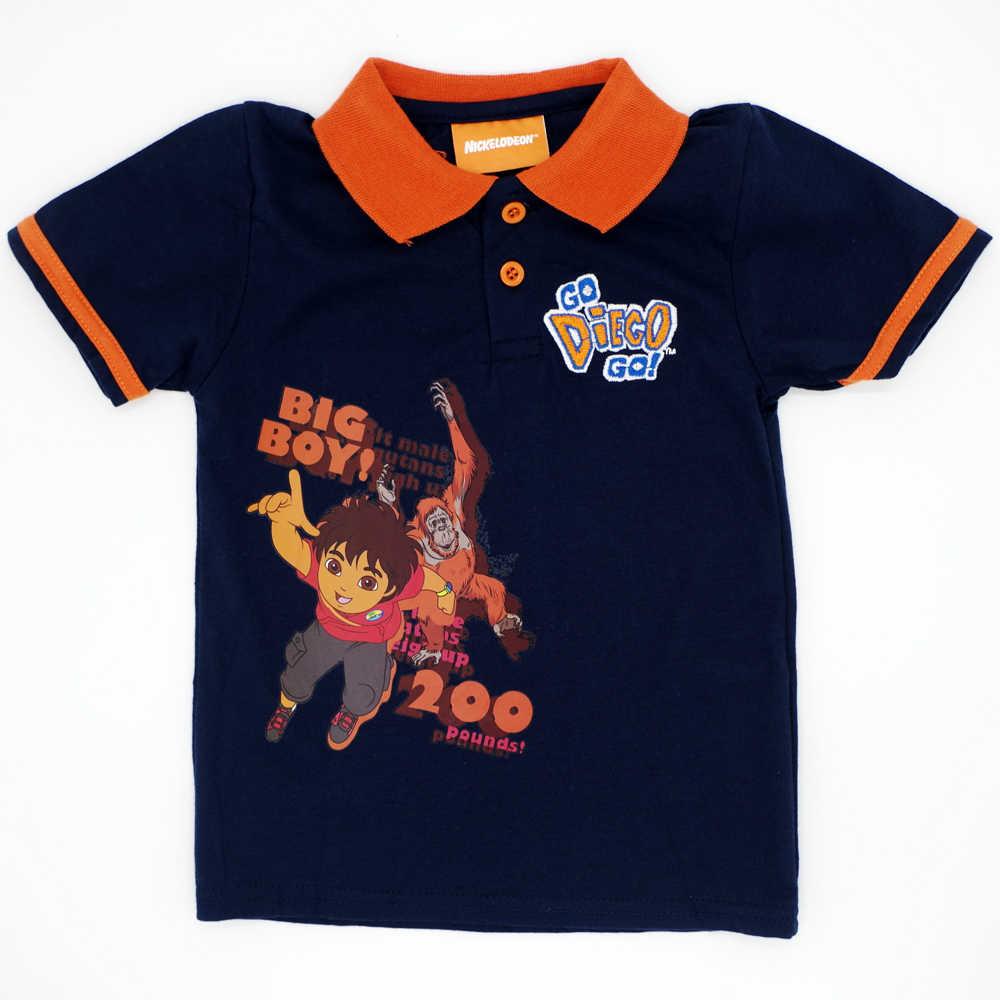 db481de8f Niños Niñas camisetas de manga corta ropa de niño bordado patrón de dibujos  animados bebé Polo camisa Unisex Tops marca niños camisetas ropa