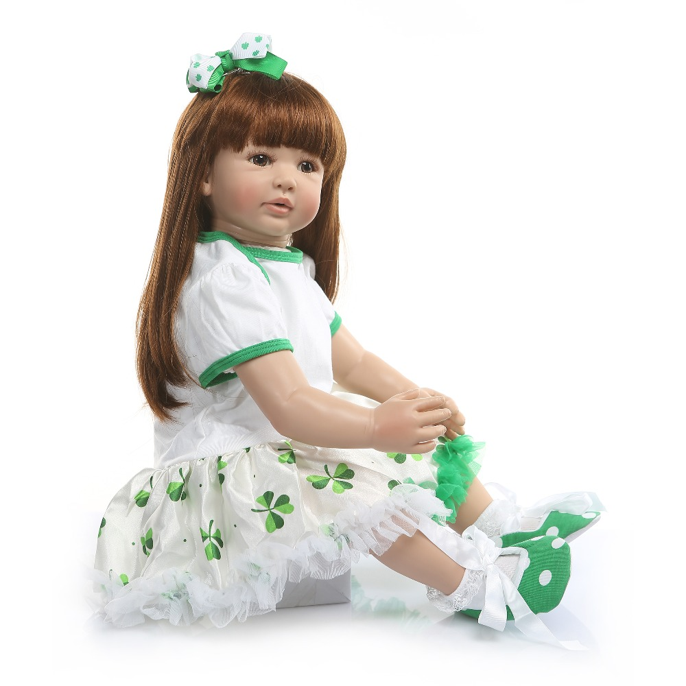 60cm Silicone Reborn Girl Baby Doll Play House Toys Girl Princess Toddler Babies Bonecas Birthday Gift