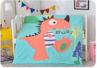 Hot Dinosaur Bedding Set 1cotton Oil Paintings Kids Girls Single Comforter Sets Bed Sheet Flat Sheet