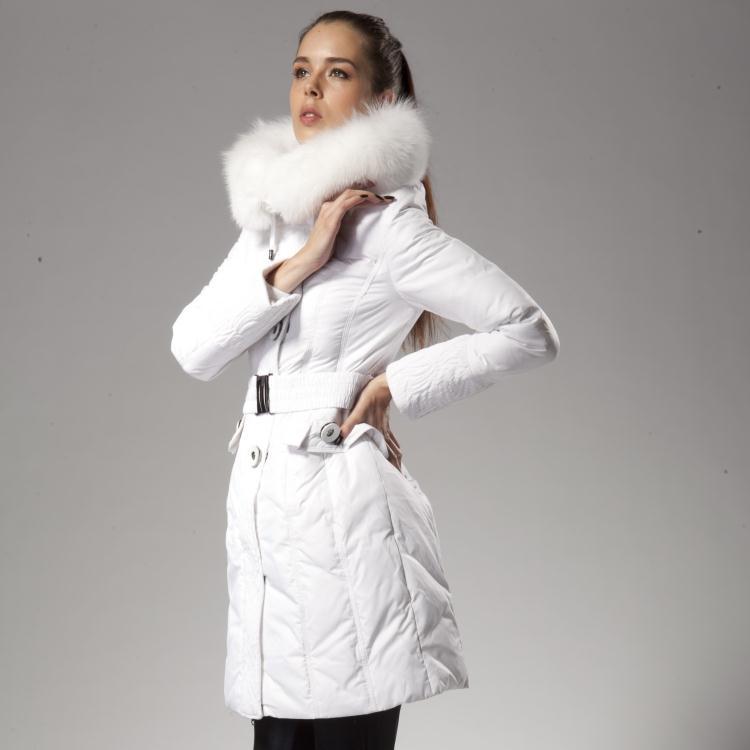 Taille Le Vers Bas Épaississement Parka Courte Thermique Col Grand Veste Plus Femmes Fourrure Blanc De La Manteau D'hiver 5zqAcdBwxf