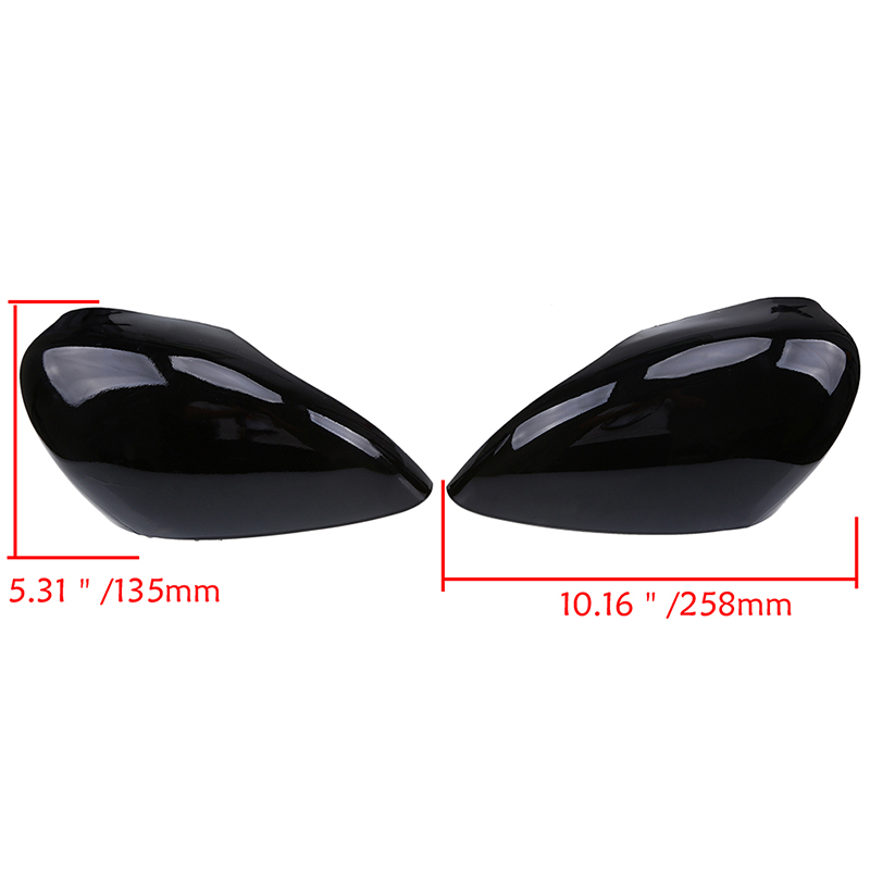 POSSBAY Rear-view Mirror Case Fit for 2011-2017 Ford Fiesta Sedan W/ SIGNAL LAMP Car Rear View Mirror Cover Exterior Parts
