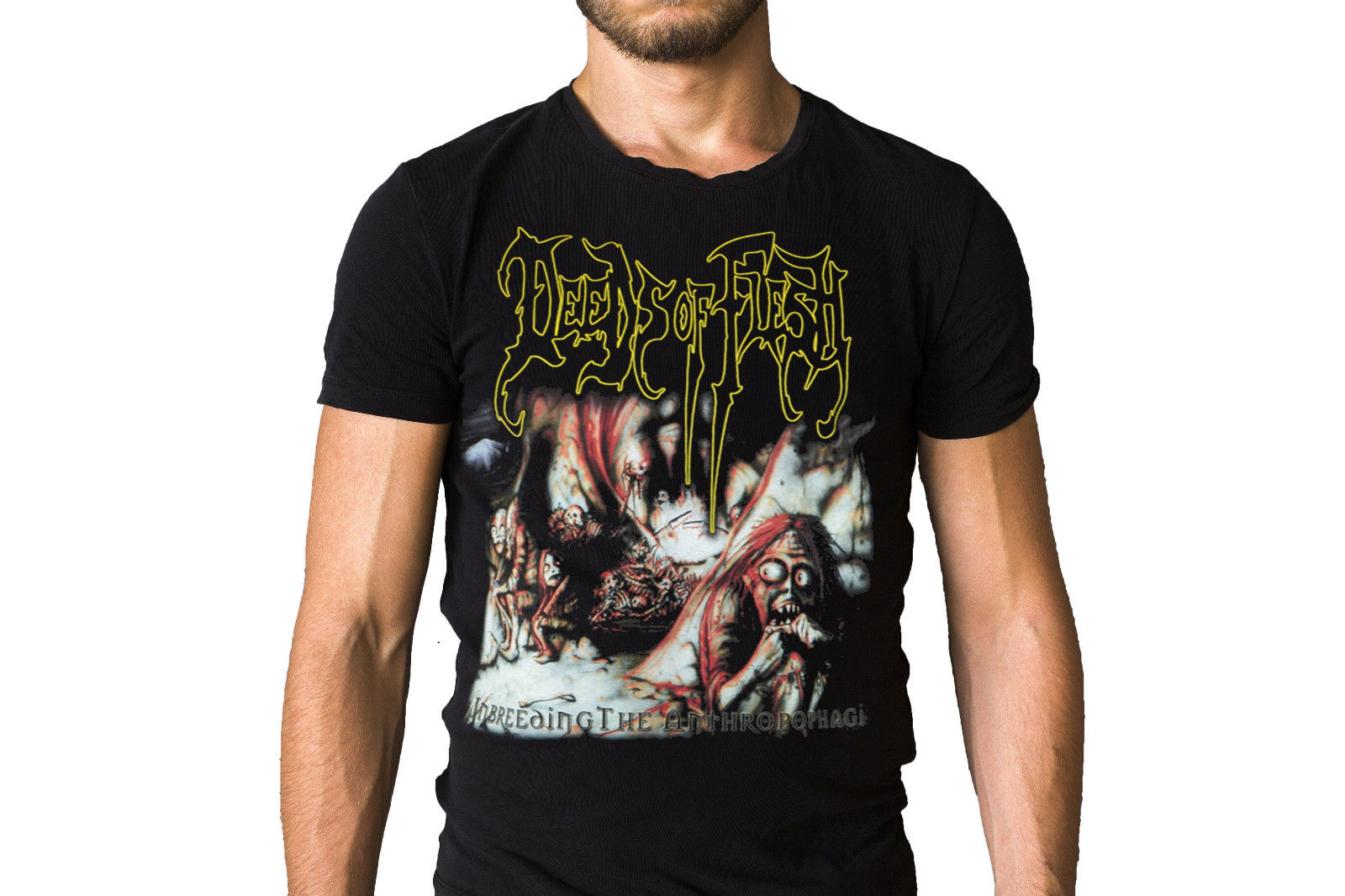 Deeds Of Flesh Inbreeding The Anthropophagi 1998 Album Cover T-Shirt New Brand-Clothing T Shirts top tee