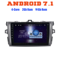 Quad core Android 7.1 car radio gps player for toyota Altis corolla 2006-2012 with 2G RAM wifi 4G USB radio RDS audio stereo SAT