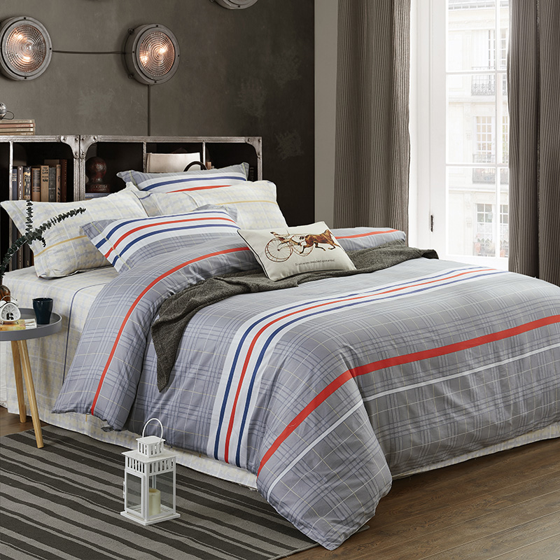 New 100%Cotton Printed Simple Fashion Bedding set Silky Soft Duvet Cover set Bed Sheet Pillowcases Queen King Size 4pcsNew 100%Cotton Printed Simple Fashion Bedding set Silky Soft Duvet Cover set Bed Sheet Pillowcases Queen King Size 4pcs