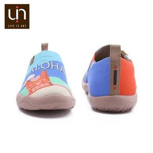 Image 5 - UIN Sandy Strand Design Gemalt Männer Casual Schuhe Atmungsaktiv Slip on Sneakers Trendy Reise Wohnungen Männlichen Faulenzer