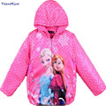 2017 Kids Baby Girl Elsa Jacket Coat Snow Queen Hooded Costume Clothes Windbreaker Warm Jackets For Girls Children Outwear Parka