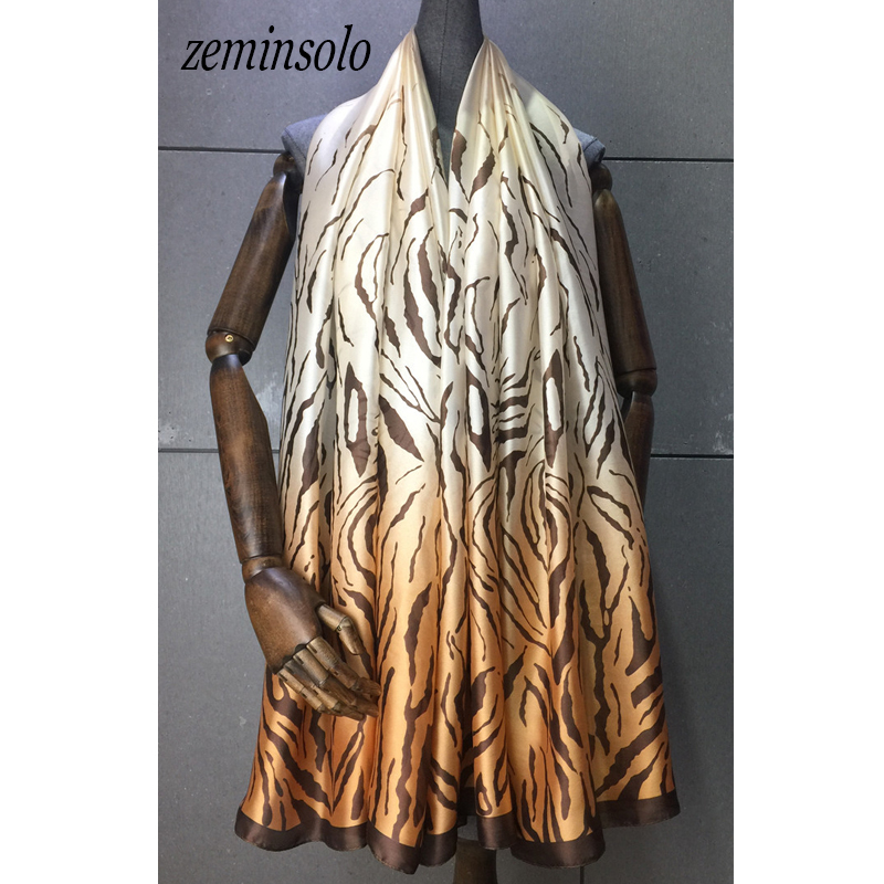 90*180cm Spring New Arrival Euro Brand Scarves For Women Bandana Fashion 100% Silk Polyester Scarf Big Size Silk Shawl Hijab