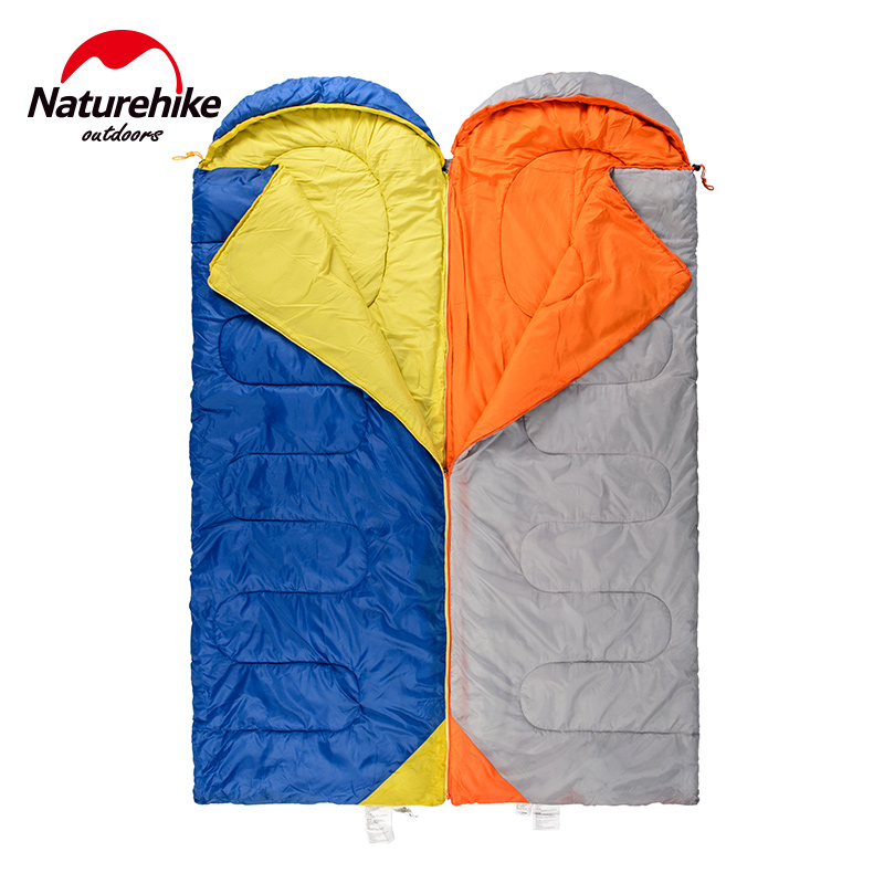 Naturehike 1 Person Sleeping Bag Portable Lightweight Attachable Camping Sleeping Bags Splicing Travel Spring Autumn 8 Degree patriot 2000i