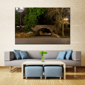 Forbeauty Canvas Painting Wall Art sevastopol_bridge_evening Spray Printing Waterproof Ink Home Decor image