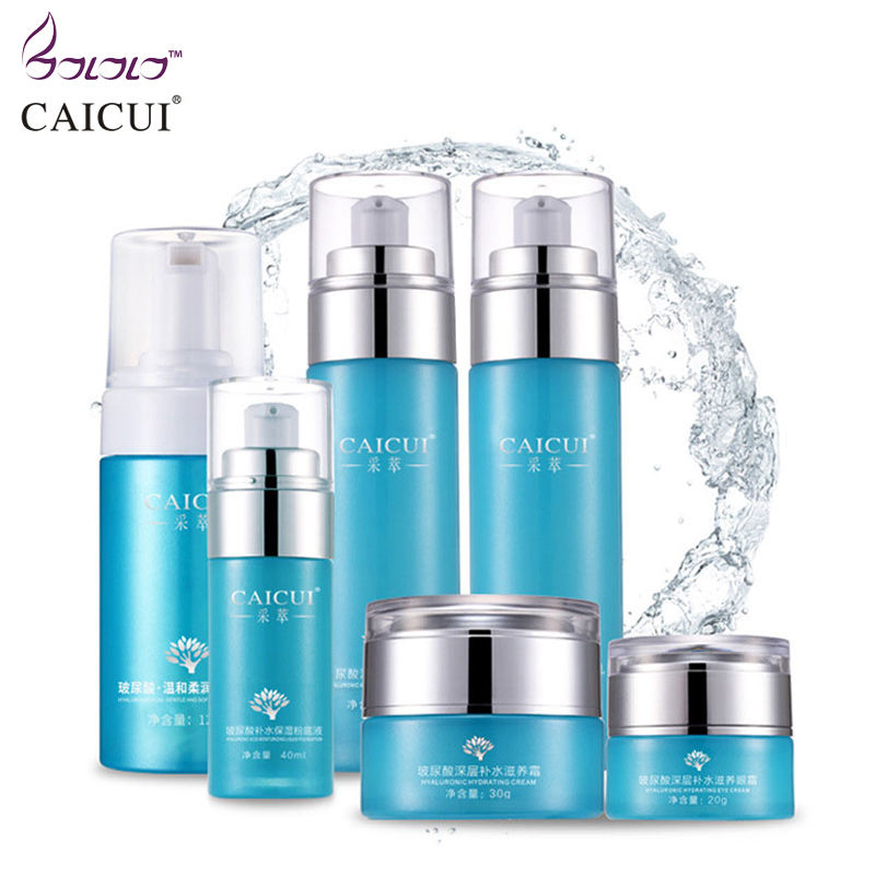 2016 new caicui hyaluronic acid firming moist face cream whitening skincare acne treatment blackhead anti wrinkle beauty ageless nano gold face firming treatment ageless anti wrinkles remove 200ml beauty products beauty free shipping