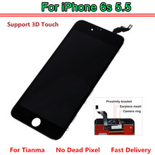 1PCS for tianma AAA Quality For iPhone 6S Plus LCD Screen Good 3D Touch Screen Digitizer Assembly White Black