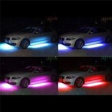 цены на LED Strip Car Decoration Lights 5050 Super Bright LED Car Bottom Lights Music Active Sound System Neon Car Light Kit  в интернет-магазинах