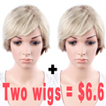 Synthetic Wigs For Black Women Short Blonde Wig Natural Cheap Hair Short Pixie Wigs For Women Sale
