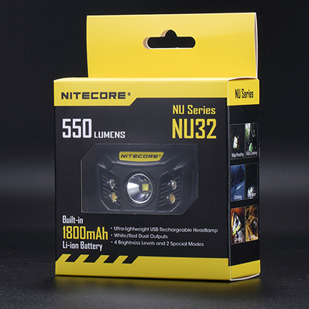 NITECORE NU32 550LMs CREE XP G3 S3 LED Built In Rechargeable Battery Headlamp Gear Outdoor Camping