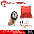 20Pcs 0-140 PSI/10 Bar Scale Fuel Injection Pump Pressure Tester Gauge Test Tool Automotive with Case for Kinds of Vehicles SUV