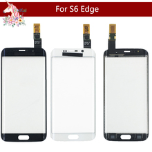 цена на 10pcs/ For Samsung Galaxy S6 Edge G925F G925A and S6 Edge+ S6 Edge Plus G928 G928F Front Outer Glass Sensor Touch Screen Panel