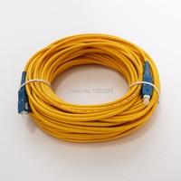 Бесплатная доставка sm sx 3 мм 20 м 9/125um Оптическое волокно гибкий кабель SC/UPC-SC/UPC Волоконно-оптический патч-корд
