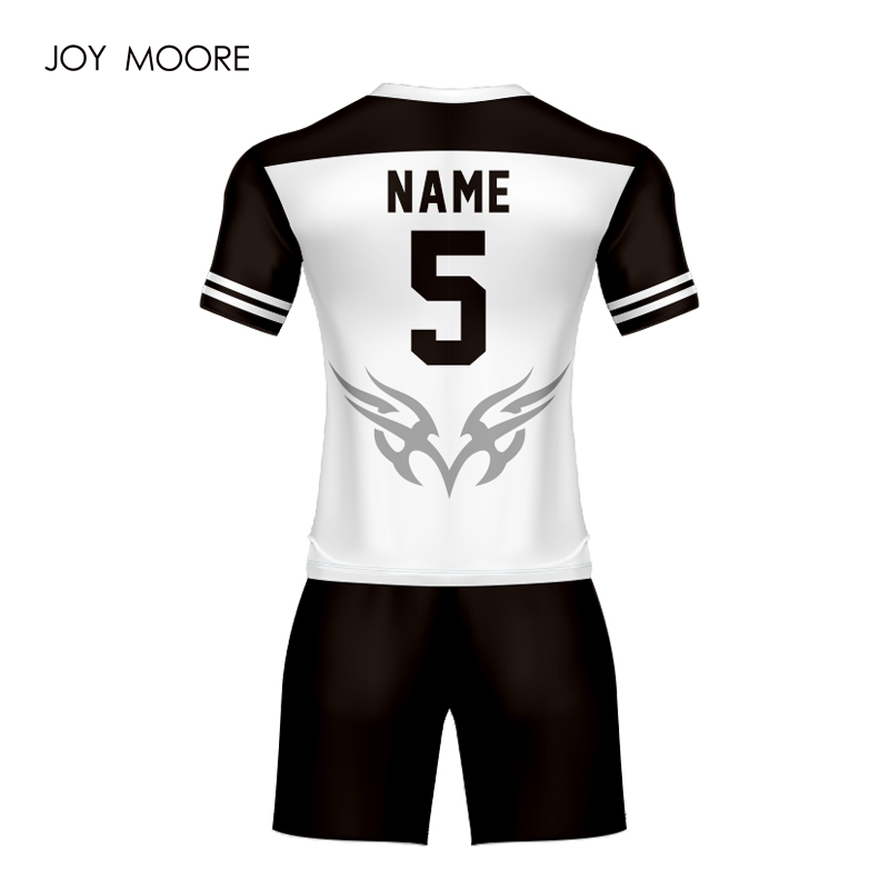 1d3e81b344563 Professional cool design sublimation custom soccer jersey white and black  custom any color