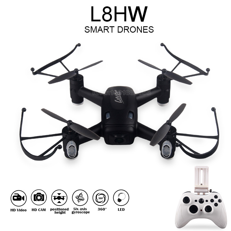 L8HW RC Drone with Built in HD FPV WIFI camera 520mAh bettery Altitude Hold Remote Control Quacopter Helicopter Toys Gift jjr c jjrc h43wh h43 selfie elfie wifi fpv with hd camera altitude hold headless mode foldable arm rc quadcopter drone h37 mini